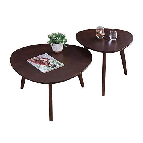 Tables CJC Set de 2 Moderne Meubles, Café Canapé Côté Fin, Chevet Vivant Pièce (Couleur : Black Walnut)