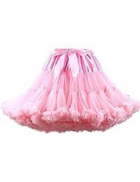 FOLOBE Women's Tutu Costume Ballet Dance Multi-Layer Puffy Skirt Adult Luxurious Soft Chiffon Petticoat Tulle Tutu Skirt