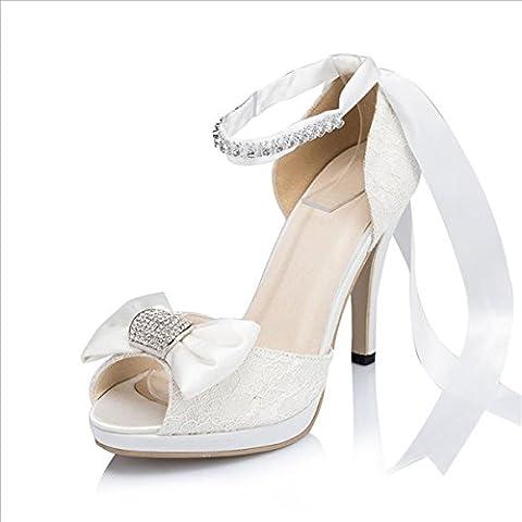 Kevin Fashion , Chaussures de mariage à la mode femme - Blanc Cassé - Blanco - blanco, 37.5 EU EU