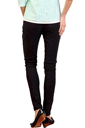SP5004 Pantalon de grossesse skinny à tour de taille réglable Black