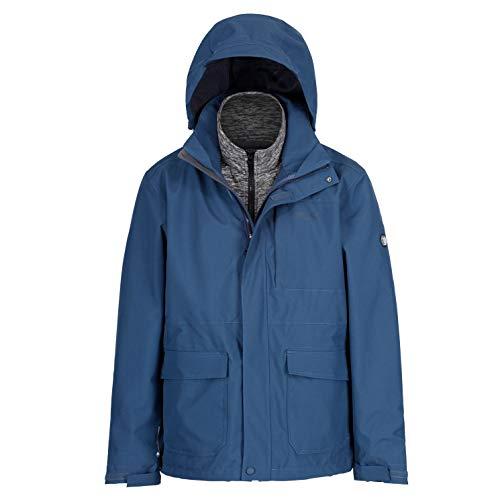 Regatta Herren Northton II 3 in 1 Waterproof and Breathable with Zip-Out Fleece...