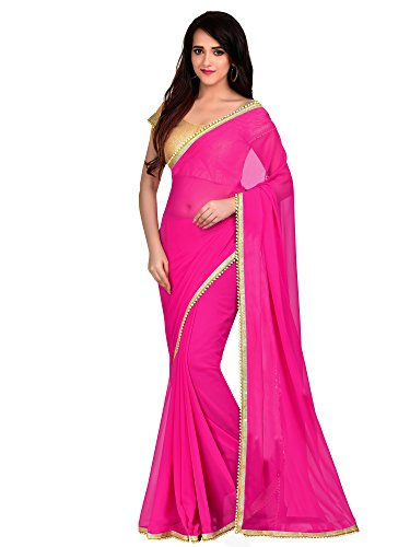 Viva N Diva Saree For Women's new collection party wear Fuchsia Pink...