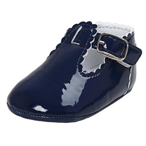 Baby schuhe, FNKDOR Baby Jungen Mädchen Säugling Weiche Sohle Kleinkind Schuhe Lauflernschuhe (00-06 Monate, Marineblau) (Ballerina Kleinkind Schuhe)