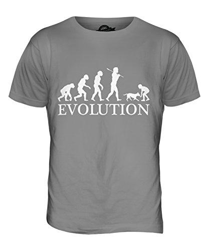 CandyMix Mädchen Mit Hund Evolution Des Menschen Herren T Shirt Hellgrau