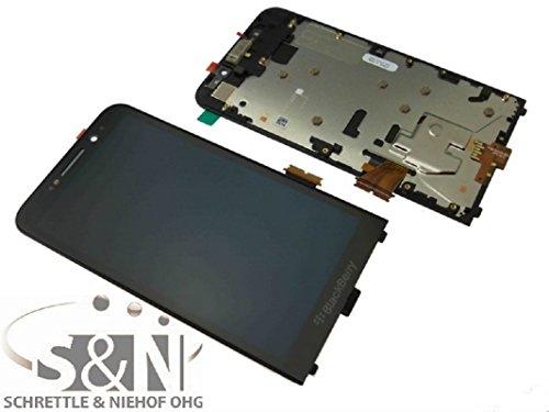 Für Z30 Lcd Blackberry (Blackberry Z30 Displaymodul LCD + Touchscreen + Glas + Rahmen Display Bildschirm Anzeige, schwarz)