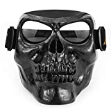 Leezo Mens Motorrad Helme Goggle Maske Totenkopf Vollgesichts ABS Winddicht Goggle Monster Maske...