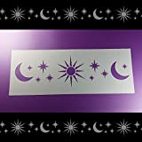 Schablone Bordüre Mond Sterne Himmel Stern B2B39