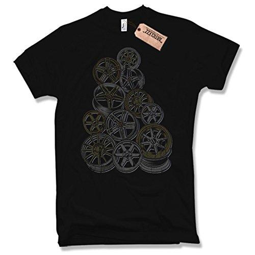 Shirt RIMS, FELGEN, Oldschool, TUNING, verschiedene Farben, Gr. S - XXL Schwarz / Black
