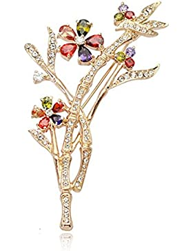 Regalo De Boda Joyería De Moda FZHLYWomen Bambú Broche Cristalina