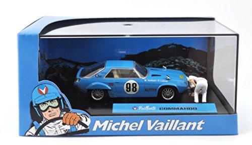 DieCast Metall Miniaturmodelle Modellauto 1:43 Michel Vaillant Comic Collection Vaillante Commando Altaya inklusive Figuren und Kunststoff Vitrine