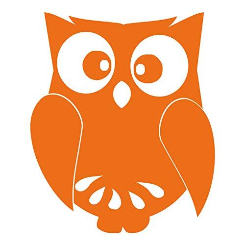 kleb-Drauf®   1 Eule   Orange - glänzend   Autoaufkleber Autosticker Decal Aufkleber Sticker   Auto Car Motorrad Fahrrad Roller Bike   Deko Tuning Stickerbomb Styling Wrapping (Angry Bird-auto-aufkleber)