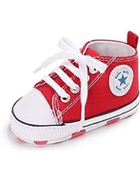 Zapatos para bebé Auxma La Zapatilla de Deporte Antideslizante del Zapato de Lona de la Zapatilla de Deporte para 3-6 6-12 12-18 M
