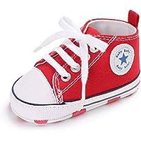 Zapatos para bebé Auxma La Zapatilla de Deporte Antideslizante del Zapato de Lona de la Zapatilla