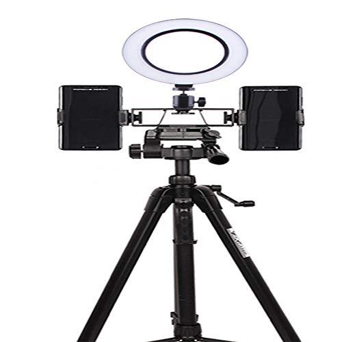 Fashion Sport 6,2-Zoll-USB-weiße LED-Fotografie Selfie Aufhellblitz Videoaufzeichnung Aufhellblitz mit Stativ Aufbewahrungstasche Bluetooth Kamera-Fernsteuerung