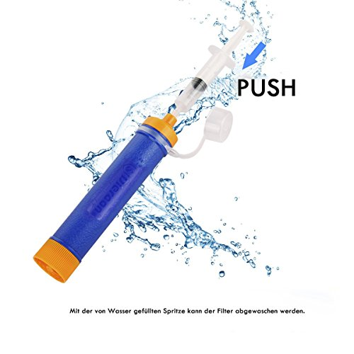 Wasserfilter Outdoor, ECHTPower 1500L Mini Tragbarer Persönlicher Wasserfilter Wasseraufbereitung Wasserreiniger - 8