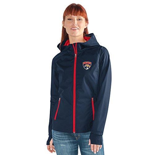 GIII For Her NHL Damen Stand ermöglicht Kick Light Gewicht Full Zip Jacket, Damen, Onside Kick Light Weight Full Zip Jacket, Navy, X-Large Womens Primary Zip Hoody