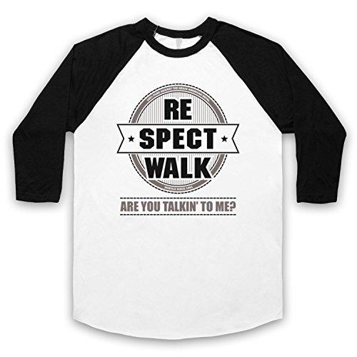 Inspiriert durch Pantera Walk Unofficial 3/4 Hulse Retro Baseball T-Shirt Weis & Schwarz