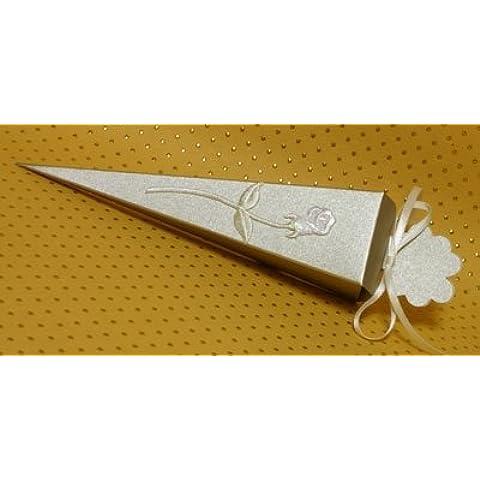 10 x oro nacarante cono del favor de oro nacarados favores de la boda caja de regalo (oro verdadero pigmentos) x (suministrado sin ninguna decoración)