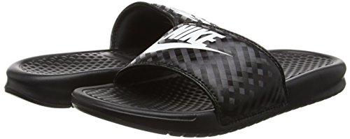 Black 42 EU Nike Benassi JDI Slide Sandali da Atletica Donna /White h13