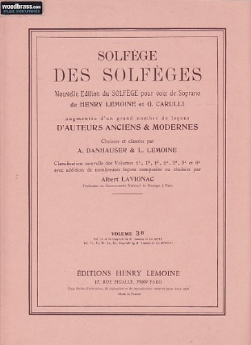 Solfège des Solfèges Volume 3B avec accompagnement