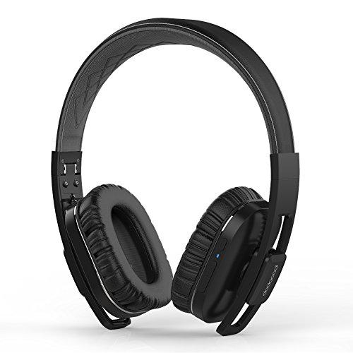 dodocool Bluetooth Kopfhörer, Wireless Headset, Kabelloses Over-Ear Active Noise Cancelling Headphone mit eingebautem Mikrofon,14 Stunden Spielzeit, Hi-Fi Stereo Sound, aptX Low Latency, 3,5 mm Klinkenstecker für iPhone/ iPad / iPod / Samsung /Android / PC usw.