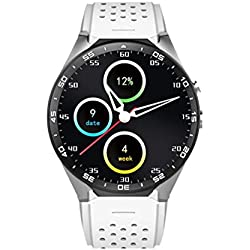 Tonsee KW88 Android 5.1 Quad Core 4GB Bluetooth 3G Smart Watch GPS WIFI For IOS Samsung, White