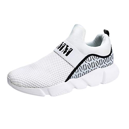 POLPqeD Moda Scarpe Running Sneakers Uomo Sport Scarpe da Ginnastica Fitness Respirabile Mesh Corsa Leggero Casual all'Aperto