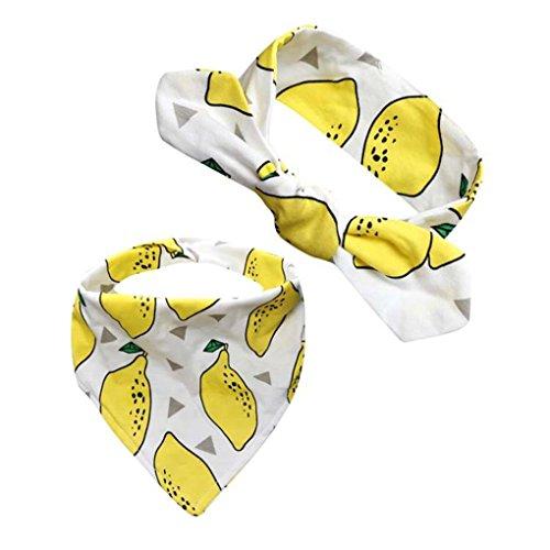kingko® Männer und Frauen Baby Speichel Handtuch 2 Sätze von Kopf Reifen Dreieck gesetzt K