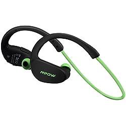 Mpow Cheetah Auriculares estéreo deportes Bluetooth 4.1 para correr cascos deportivos de manos libre, Deportes Auricular con Tecnología aptX Avanzada para iPhone, iPad, LG, Samsung y Otros Teléfonos Móviles Android, Color verde