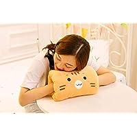 anlala Hand Warmer Pillow Handkerchief Cartoon Plush Toy Winter Warm Cute Lazy Lazy Sleeping Brown Tiger About 20 X 30 Cm