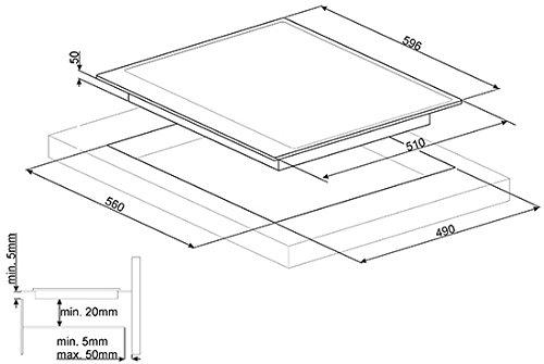 Smeg PI764BS piano cottura Nero, Bianco Incasso A induzione
