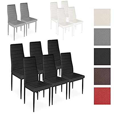 Homelux 4 Piece Dining Chair Set Upholstered Chair Kitchen Chair (D x W x H) 43 x 43 x 97.5 cm - low-cost UK light store.