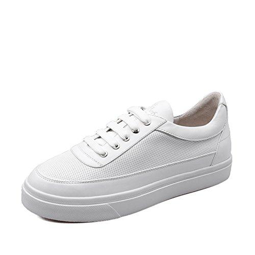 chaussures blanches rondes solides/Chaussures de l'étudiant/chaussures à talons bas sports récréatifs A