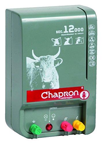 Chapron Weidezaungerät SEC 12000, 230 Volt Netzgerät für Rinderweiden, Elektrozaungerät, Weidezaun, Elektrozaun