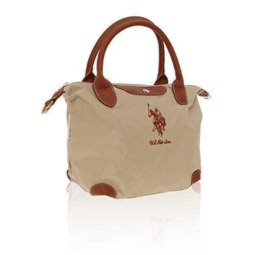 U.S.Polo Assn. Borsa a Mano Donna - 24-36x25x14 Cm Beige