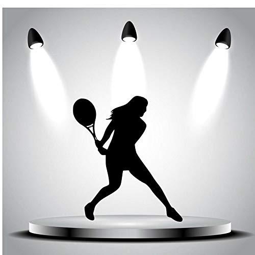 yaoxingfu Tennis Aufkleber Autofenster Sport Aufkleber Muurstickers Name Poster Vinyl Wandtattoos Parede Decor Wandbild Tennis Sti schwarz 40x46cm (Hochzeits-kuchen-deckel-eule)