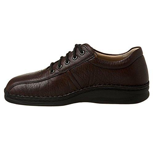 Finn Comfort Mens Dijon Leather Shoes Dunkelbraun