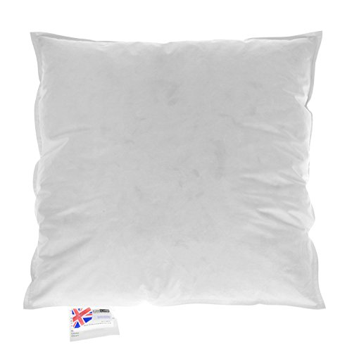 Homescapes - Luxury New White Duck Feather Cushion Pad Inner Insert – 20 x 20-100% Natural Cotton Anti Dust Mite And Down Proof Cover - Double Stitched Seams - Non Allergenic - Machine Washable