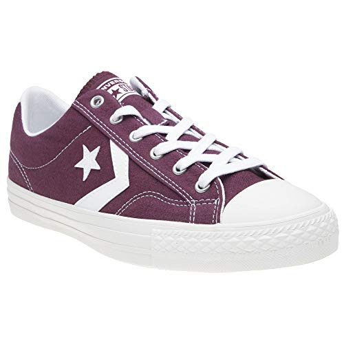 Converse Lifestyle Star Player Ox, Zapatillas Unisex Adulto, (Dark Burgundy White 613), 41.5 EU