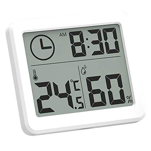 Vevice - 1 medidor de humedad digital de temperatura y higrómetro, impermeable, pantalla LCD de grados...