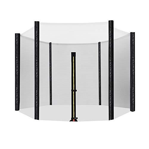 SONGMICS Sicherheitsnetz für Trampolin, Ø 244 cm, Ersatznetz für 6 Stangen, rundes Schutznetz für Gartentrampolin STN8FT