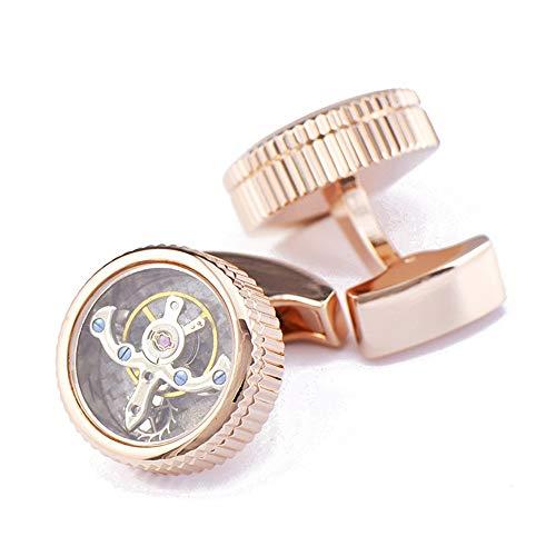 AdorabCufflinks Movimiento Reloj tourbillon en Oro Rosa Gemelos Clavos.