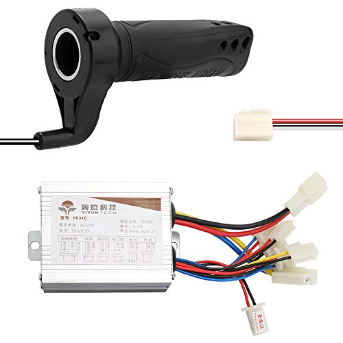 Tickas cepillado controlador, 24V 500W para bicicletas eléctricas Scooter E-moto Motor