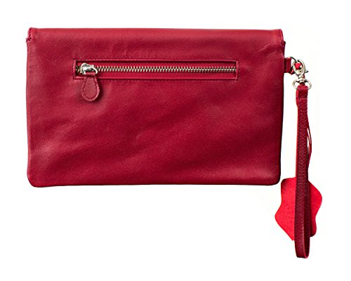 Joselle  Clutch Bag A1009, Pochette pour femme rouge