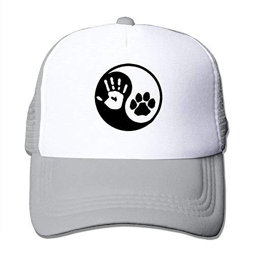 Yang Machen Yin Kostüm - AOHOT Herren Damen Baseball Caps,Hüte, Mützen, Classic Baseball Cap, Yin and Yang - Dog and Human Boys Girls Mesh Cap-Curved Visor