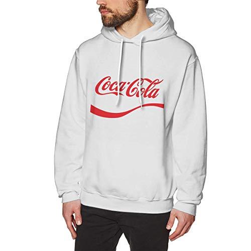 UfashionU Herren Coca Gola Graphic Hoodie Langarm Kapuzenpullover für Teenager Jungen Herren Weiß M - Scoop Neck Thermal Top