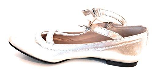 CLAUDIE PIERLOT Chaussure ANETH 100% Cuir ARGNEAU Talon Plat Taille 38 Neuf