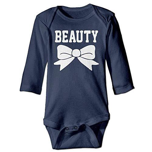 VTXWL Unisex Infant Bodysuits Beauty Bow Boys Babysuit Long Sleeve Jumpsuit Sunsuit Outfit Navy