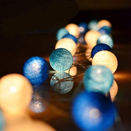 Zodight 3,5M Guirnalda Luces Interior 20 Bolas de Algodón con Pilas Súper ahorro energía, Resistente al agua IP44, Luz LED para Habitación Mesa Estante Patio Cafetería Fiesta Boda