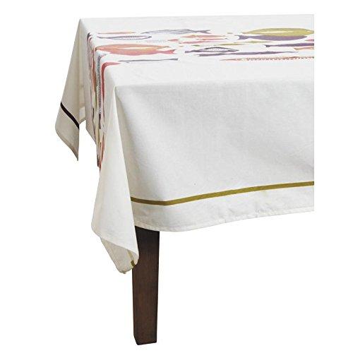 Nappe de Table Carrée en Coton Enduite motif Poissons